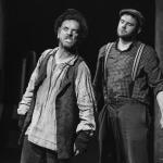 Jim McKeown & Blaine Nugent in The Cripple of Inishmaan (Theatre U Mosta, Perm, Russia, 2016). Photo by Vadim Balakin.