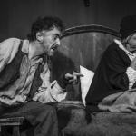 Jim McKeown & Frances Jordan in The Cripple of Inishmaan (Theatre U Mosta, Perm, Russia, 2016). Photo by Vadim Balakin.