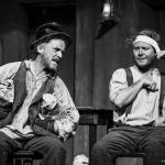 Jim McKeown & Conor Begley in The Cripple of Inishmaan (Theatre U Mosta, Perm, Russia, 2016). Photo by Vadim Balakin.
