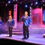 (L-R) Finton Daly, Conor Begley, Brian Mills, Declan McGrath & Stuart Richardson as Frank Valli & The Four Seasons in a scene from Jersey Boys : The Musical